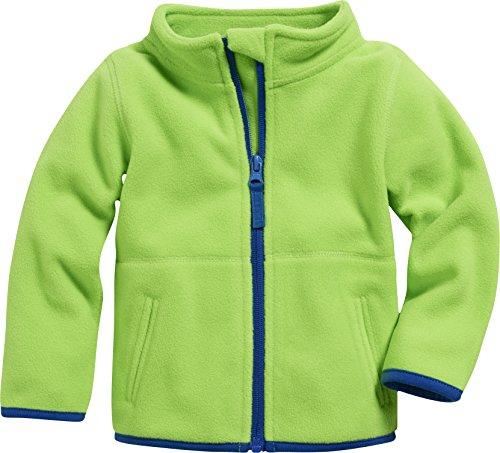 Schnizler Unisex Baby Jacke Fleecejacke, Babyjacke mit Kontrastnähten, Grün (Grün 29), 68