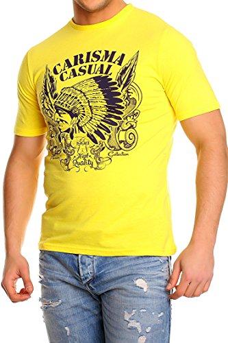 Carisma T-Shirt Herren Clubwear gelb blau S M L XL Yellow