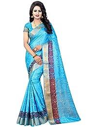 RAMAPIR FASHION Women'S Ethnic Wear Banarasi Silk Saree & JACQUARD WORK With Unstitched Blouse Piece (Sarees Desinger...