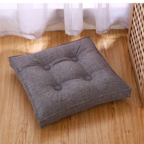 Seat cushion Cojín De Suelo Cuadrado De,Color Sólido Lino Removeable Cojín De Asiento...