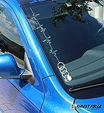 Skull Herzschlag Frontscheibenaufkleber Audi A1 A3 S3 B6 B5 Aufkleber A4 S4 B8