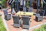 Destiny Sitzgruppe Tampa Dining Twoline Grau Gartenset Teakholz Tisch Dorado XL