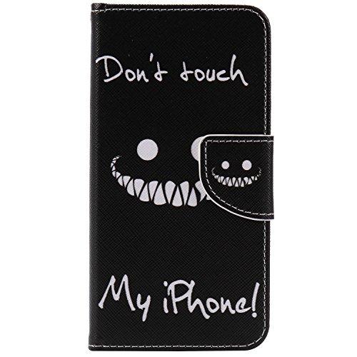 Cozy Hut Custodia iPhone 7 con Strap, iPhone 7 Flip Custodia Cover Case, Creative Disegno stampa stile del libro Portafoglio Cover Case in PU Cuoio Wallet Caso copertina con funzione di supporto e mor dente