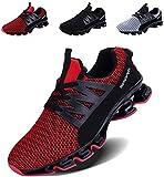 LSGEGO Sneaker Uomo Running Scarpe Casual Sport Athletic Fashion Tennis Trail Running Sneakers, Nero...