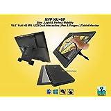 Yiynova MVP16U+DF Dual touch (pen/fingers) 1920x1080 15.6 Inch FHD IPS Tablet Monitor, HDMI port.(Mac & Windows)