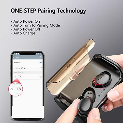 Arbily Bluetooth Kopfhörer Kabellos True Wireless IN Ear Earbuds mit Portable Ladebox 3000 mAh,135 Stunden Spielzeit IPX6 Wasserdicht Bluetooth 5.0 Ohrhörer Sport,Power Bank für Smartphone - 7