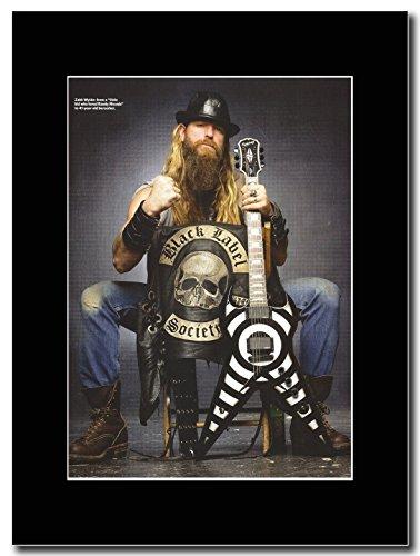 Black Label Society-41 anni Berserker Zakk Wylde Magazine Promo su un supporto, colore: nero