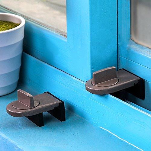 Casement-fenster (WEIAIXX Schiebe- Türfänger Casement-Fenster Aluminium-Fenster Sperren Verschieben Fenster Schiebetür Kindersicherung Retainer)