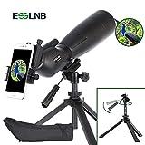 ESSLNB Spektiv 20-60X80 IPX7 Wasserdicht BAK4 FMC mit Handy Adapter Auszielbarem Stativ und Tasche für Sportschützen Vogelbeobachtung und Jagd