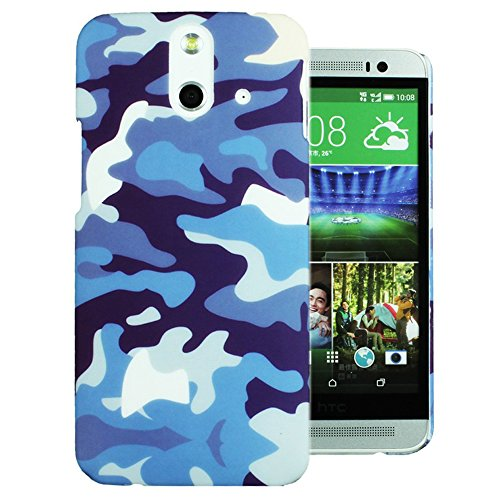 Heartly Army Style Retro Color Armor Hybrid Hard Bumper Back Case Cover For HTC One E8 Dual Sim - Navy Blue  available at amazon for Rs.249