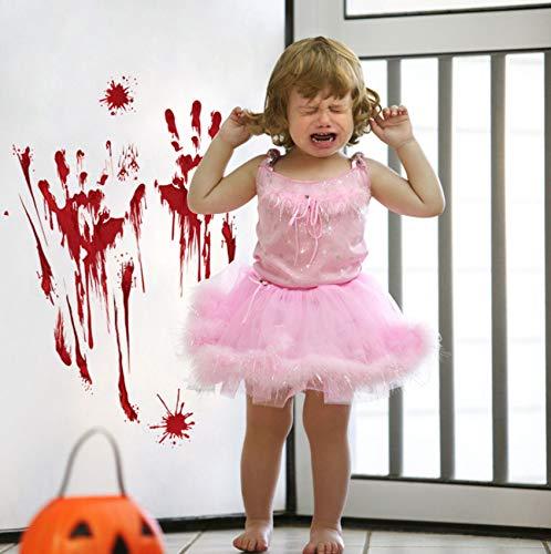 Blutige Hand Scratch Aufkleber Halloween Dekorationen Wandaufkleber Halloween Party Dekoration Wandtattoo für Wand Windows Aufkleber (Scratch Vinyl Halloween)