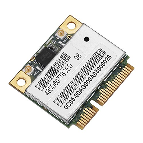 Oumij Dual Band 2,4 G / 5 GHz AR5BHB92 Netzwerkkarte 300 Mbit/s 100% hochwertige WiFi Mini PCI-E-WLAN-Karte für Windows XP, Windows 7, Windows 8, Windows 8.1, Windows 10, Linux, Mac - Mini-pci-audio-karte