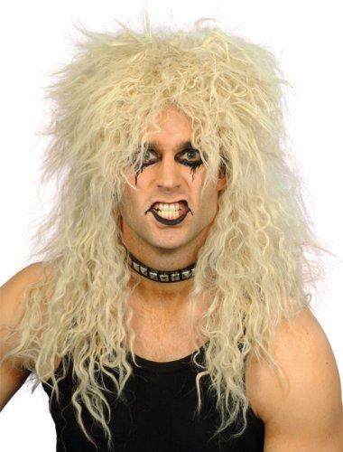 Blonde Perücke Rocker Hardrock Rockerperücke (Rocker Blonde Perücke)