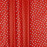Stoff Regenjackenstoff mit Punkten   Rainy Dots rot   50cm