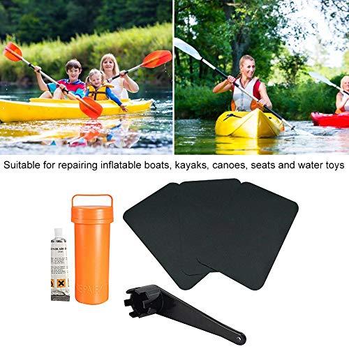 Dioche Kit di Riparazione per gommone 3 Pezzi Kit di Kit di Riparazione in PVC Accessorio per Canoa Gonfiabile per Canoa Kayak