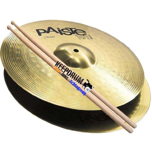 """PAISTE 101 Hi Hat Becken 13\"""" + 5A KD Drumsticks"""