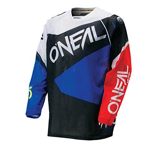 O'Neal Hardwear MX Jersey FLOW Blau Rot Trikot Motocross Enduro Cross Motorrad, 0027F-80, Größe M