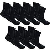 DAILYSOXX Herren Classic Business Socken Everyday mit Softrand ohne Gummidruck 7-14 - 21 Paar, Größe:47-49, Farbe:Schwarz - 14er Pack