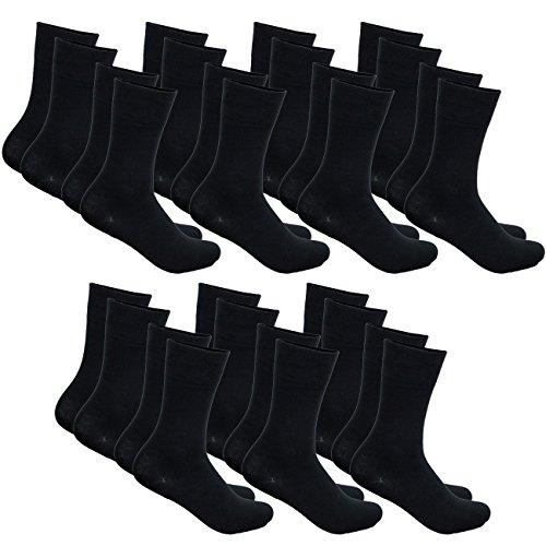 ssic Business Socken Everyday mit Softrand ohne Gummidruck 7-14 - 21 Paar, Größe:39-42, Farbe:Schwarz - 14er Pack ()