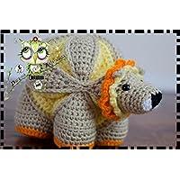 PUZZLE BALL MONTESSORI LEÓN GANCHILLO AMIGURUMI PERSONALIZABLE (Bebé, crochet, ganchillo, muñeco,