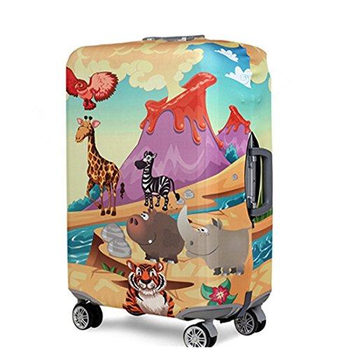 Bestja Elástico Funda Protectora de Maleta Luggage Protective Cover, Viaje Equipaje Cubierta Carretilla Caso Protectora Cubierta Cabe 18-32 Pulgadas Equipaje (Animal World, M)