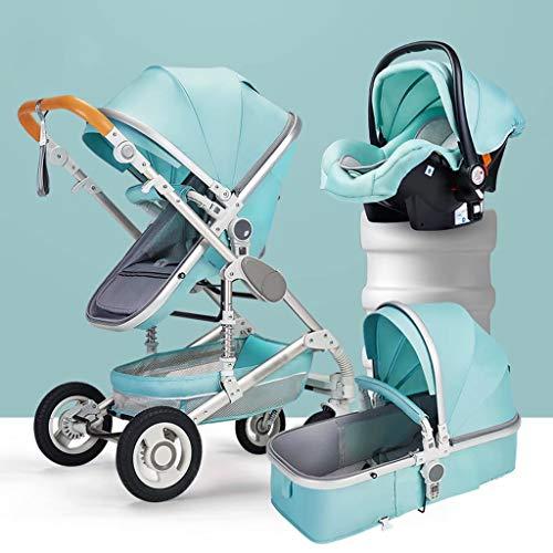 LjfⓇ Hot Mom Hochland Kinderwagen Reisesystem, kann sitzen und liegen leichte Kinder Klappwagen Neugeborenen Schock Allradwagen