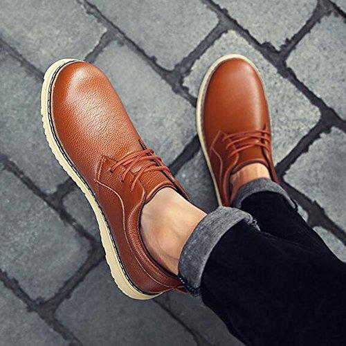 FEIFEI Scarpe da uomo Moda invernale Scarpe in pelle casual 4 colori ( Colore : 02 , dimensioni : EU/41/UK7.5-8/CN42 ) 03