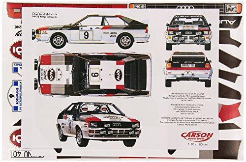 Carson 500069240 Pegatinas Folleto Audi Quattro Grupo