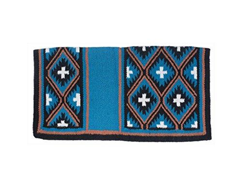 Robust Sequoyah 1) Wolle Sattel Decke, Wolle, blaugrün, 36 X 34