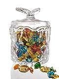 Mkouo Bonboniere Vorratsgläser, Candy Gläser, Tee-Aufbewahrungsglas, Müsli-Glas, Vorratsglas, Bonbonglas, Dekoglas mit Deckel, Ø 12,7 cm, Höhe 17,8 cm