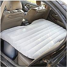Dopobo- Colchón hinchable para asiento trasero de coche, con bomba, ideal para viajes, trayectos largos, acampadas, poliéster, Grau-2, 135cm(L)x88cm(B)x42cm(H)