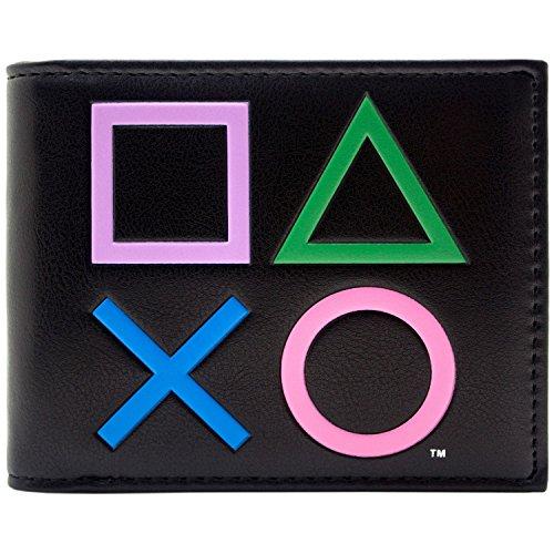 (Playstation2 Steuerungssymbole Schwarz Portemonnaie Geldbörse)