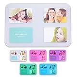 Individuell gestaltbare Tischsets 'Transparo' für 4 10x15 Fotos in 5 Farben im SET erhältlich (klar/4er Set)