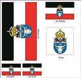 U24 Aufkleberbogen Deutsch Südwestafrika Aufkleber Set Flagge Fahne