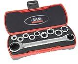 Sam Outillage CP-12Z Coffret de Clés à cliquet 12 pièces