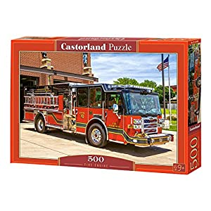 Castorland Fire Engine 500 pcs Puzzle - Rompecabezas (Puzzle Rompecabezas, Vehículos, Niños y Adultos, Niño/niña, 9 año(s), Interior)