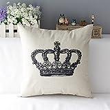 Modern Simple Kissenbezug Kissenhülle Dekokissen Sofa Couch Pillowcase Krone