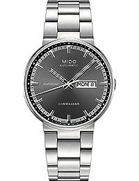 Mido Herren-Armbanduhr XL Commander Analog Automatik Edelstahl M0144301106100