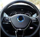 - BLAU / BLUE - Selbstklebend Aluminium Ring 101933 VWRING Lenkrad Emblem Blende Abdeckung Rahmen Logo Aufkleber INION®