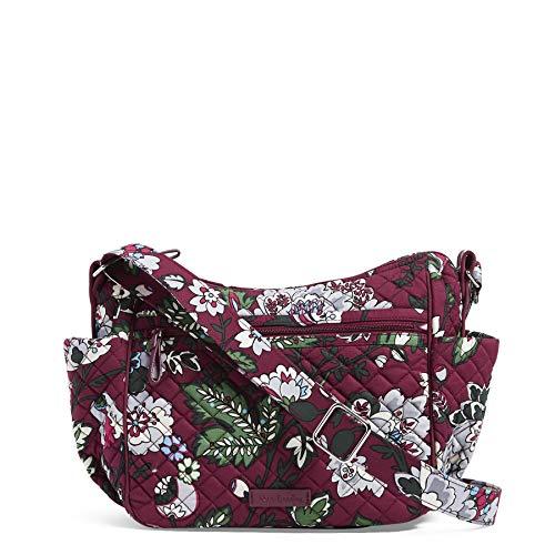 Vera Bradley Damen Cotton Iconic on The Go Crossbody, Signature Baumwolle, Bordeaux Blooms, Einheitsgröße (Vera Bradley-t-shirt)