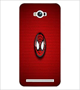 PrintDhaba Spider Logo D-1699 Back Case Cover for ASUS ZENFONE MAX ZC550KL (Multi-Coloured)