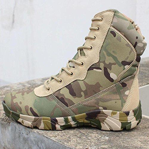BUSL Hohe Stiefel der Männer hohe Bein-Wüstenstiefel Jagd-Schuhe. die Schuhe wandern Freizeitschuhe Bergsteigerschuhe . c . 42