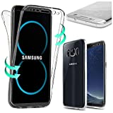Coque SAMSUNG Galaxy S8 PLUS , Housse en Silicone TPU protection 360° Total Avant + Arriere , Anti-Rayures , Anti-Choc , Transparent - E.F.Connection®
