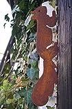Nostalgic Garden Gartendeko Gartenstecker Eichhörnchen Edelrost Baumstamm Rost Deko Design