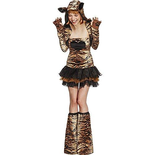 Smiffys Sexy Tigerin-Kostüm mit Tutu Damen M (Sexy Tigerin Kostüme)