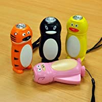 Animal Character Dynamo Wind Up LED Torch
