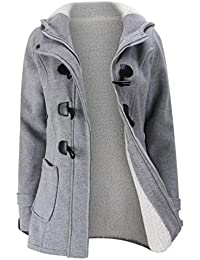 Outtop Women's Long Sleeve Hooded Cotton Coat TeenWarm Plus Size Jacket
