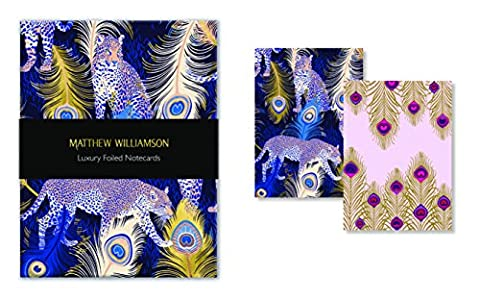 Matthew Williamson Feather Prints Luxury Foiled Notecards