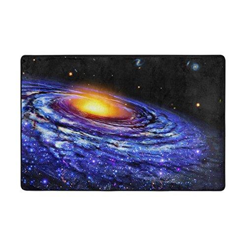 Ingbags Nebula Universe Starry Système solaire Salon salle à manger Zone Rugs 3 x 2 pieds Chambre Rugs Bureau Tapis moderne Tapis de sol Tapis Home Decor, multicolore, 6 x 4 Feet