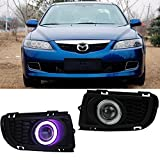 eeMrke EE-2015Y02-AE5100 Auto LED DRL Angel Eyes Tagfahrlicht Halogen Nebelscheinwerfer Kits für Mazda6 2006 2007